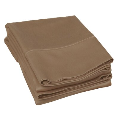 Campfield 500 Thread Count Pillowcase Color: Taupe, Size: Standard
