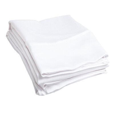 Campfield 500 Thread Count Pillowcase Color: White, Size: Standard