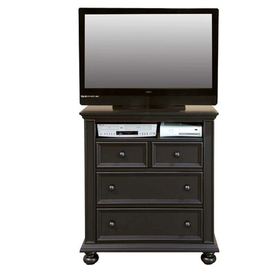 Miami Springs 3 Drawer Media Chest Color: Ebony