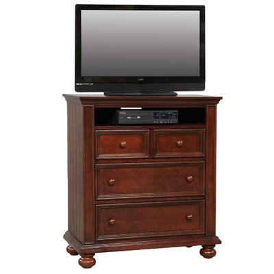 Miami Springs 3 Drawer Media Chest Color: Chocolate