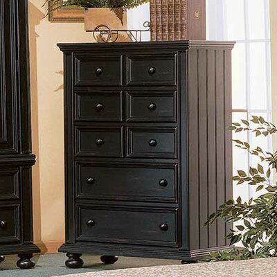 Miami Springs 5 Drawer Chest Color: Ebony