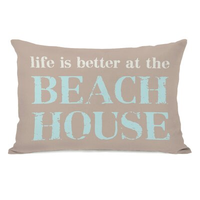 Shearman Life is Better at the Beach House Lumbar Pillow
