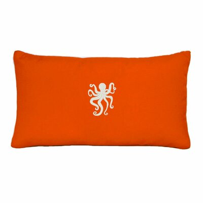 Dalton Octopus Outdoor Lumbar Pillow Color: Melon
