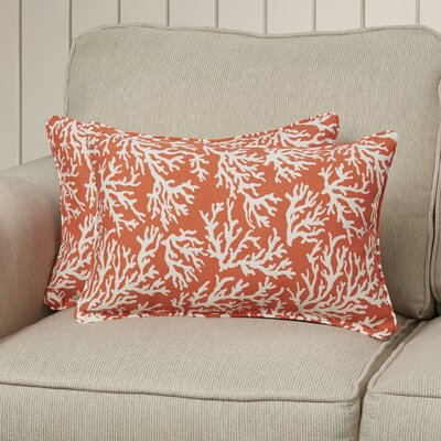 Bay Pines Corded Lumbar Pillow Color: Mandarin