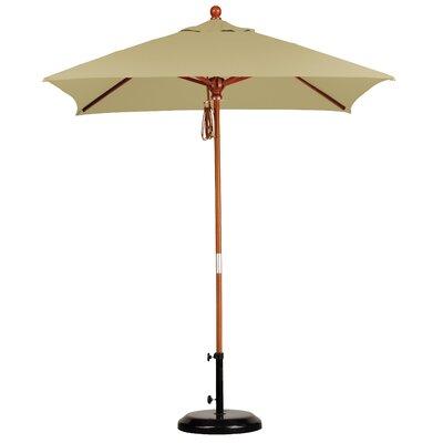 6 Overmoor Square Market Umbrella Fabric: Sunbrella-Heather Beige