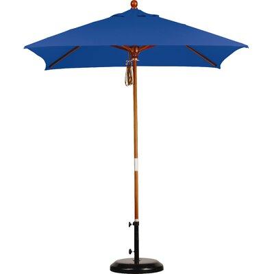 6 Overmoor Square Market Umbrella Fabric: Sunbrella A Pacific Blue