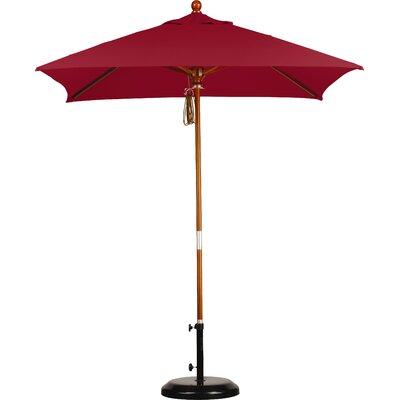 6 Overmoor Square Market Umbrella Fabric: Sunbrella AA Jockey Red