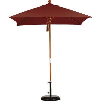 6 Overmoor Square Market Umbrella Fabric: Sunbrella AA Henna