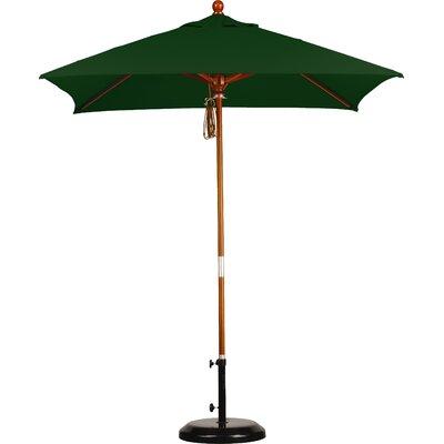 6 Overmoor Square Market Umbrella Fabric: Sunbrella A Forest Green