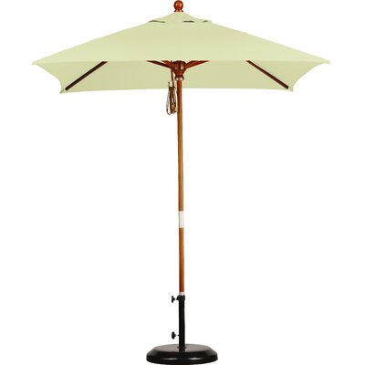 6 Overmoor Square Market Umbrella Fabric: Sunbrella A Canvas
