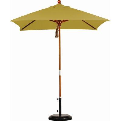 6 Overmoor Square Market Umbrella Fabric: Sunbrella A Brass