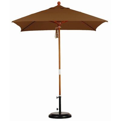6 Overmoor Square Market Umbrella Fabric: Sunbrella A Canvas Teak