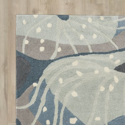Cherrywood Hand-Tufted Slate/Moss Area Rug Rug Size: Rectangle 36 x 56