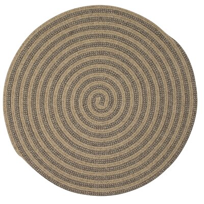 Carruthers Hand-Woven Beige Area Rug Rug Size: Round 6