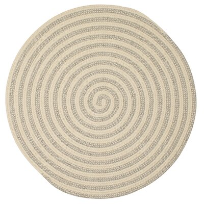 Cadenville Hand-Woven Natural Wool Area Rug Rug Size: Round 5