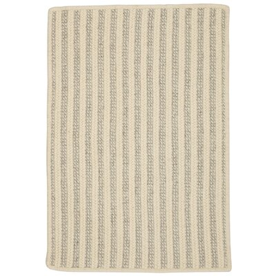 Cadenville Hand-Woven Natural Wool Area Rug Rug Size: 5 x 7