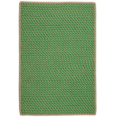Mammari Hand-Woven Green Indoor/Outdoor Area Rug Rug Size: 5 x 8