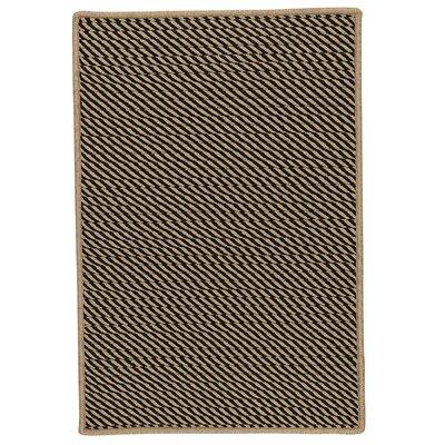 Mammari Hand-Woven Black Indoor/Outdoor Area Rug Rug Size: 3 x 5