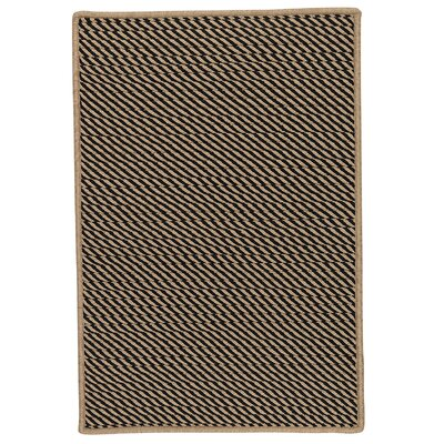 Mammari Hand-Woven Black Indoor/Outdoor Area Rug Rug Size: 4 x 6