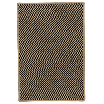 Russell Hand-Woven Black Indoor/Outdoor Area Rug Rug Size: 7 x 9