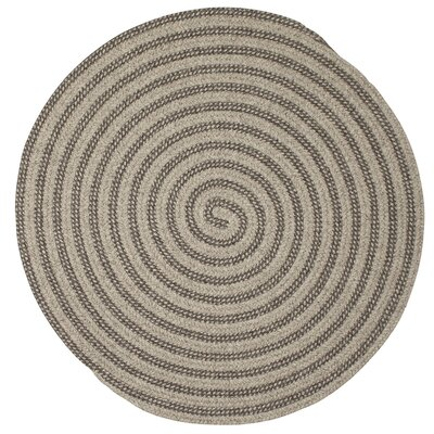 Carruthers Hand-Woven Gray Area Rug Rug Size: Round 8