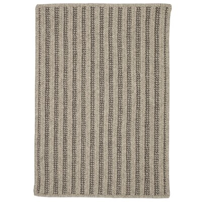 Carruthers Hand-Woven Gray Area Rug Rug Size: 5 x 7
