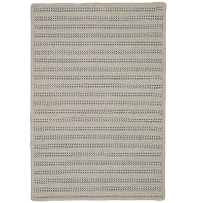 Tidewater Striped Hand-Woven Natural Indoor/Outdoor Area Rug Rug Size: Runner 2 x 7