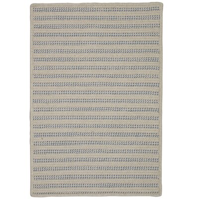 Tidewater Striped Hand-Woven Natural Indoor/Outdoor Area Rug Rug Size: 6 x 9