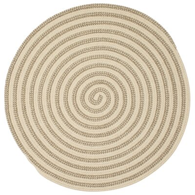 Carruthers Hand-Woven Natural Area Rug Rug Size: Round 6