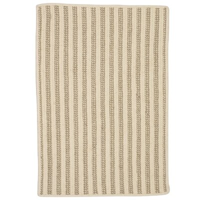 Cadenville Hand-Woven Natural Area Rug Rug Size: 5 x 7