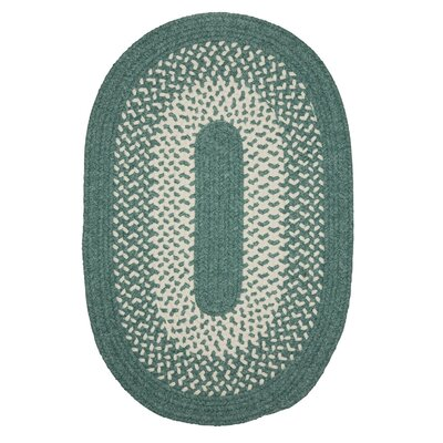 Quigley Hand-Woven Green Area Rug Rug Size: Oval 7 x 9