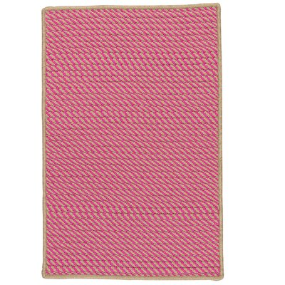 Russell Hand-Woven Pink Indoor/Outdoor Area Rug Rug Size: 10 x 13