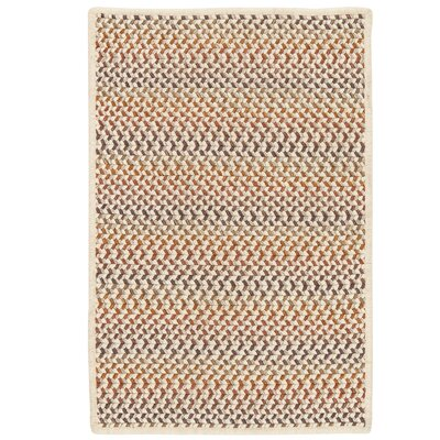 Arvie Hand-Woven Natural Wool Area Rug Rug Size: 4 x 6