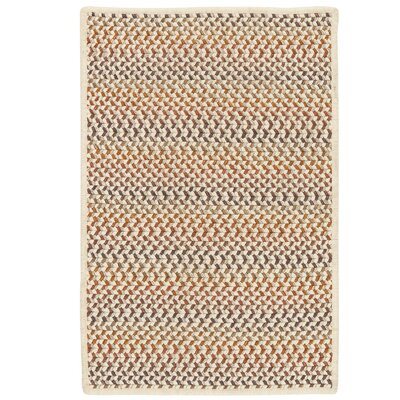 Arvie Hand-Woven Natural Wool Area Rug Rug Size: 5 x 8