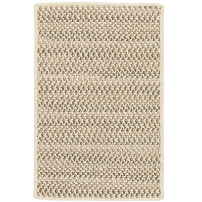 Arvie Striped Hand-Woven Natural Area Rug Rug Size: 5 x 8