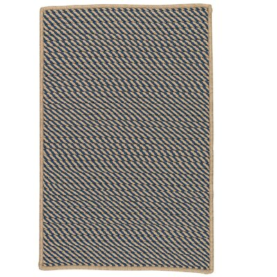 Mammari Striped Hand-Woven Blue Indoor/Outdoor Area Rug Rug Size: Rectangle 4 x 6