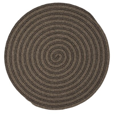 Cadenville Hand-Woven Brown Area Rug Rug Size: Round 6
