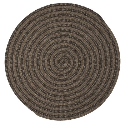 Carruthers Hand-Woven Brown Area Rug Rug Size: Round 8
