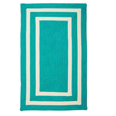 Keats Hand-Woven Outdoor Blue Area Rug Rug Size: 4 x 6