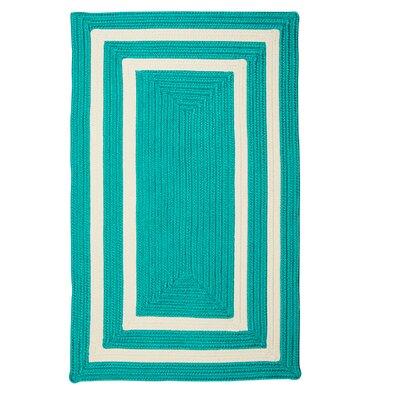 Keats Hand-Woven Outdoor Blue Area Rug Rug Size: 7 x 9