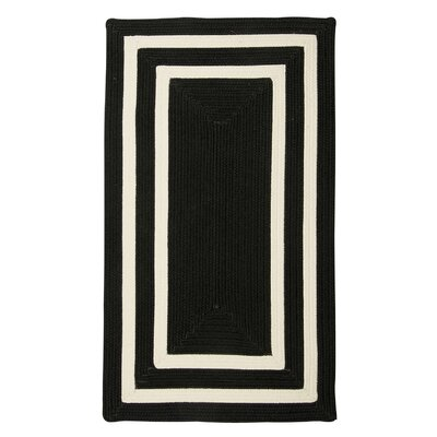 Marti Hand-Woven Outdoor Black Area Rug Rug Size: Rectangle 7 x 9