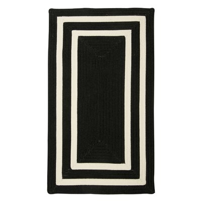Marti Hand-Woven Outdoor Black Area Rug Rug Size: 5 x 8