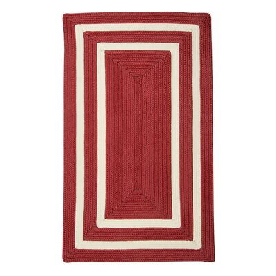 Marti Hand-Woven Outdoor Red Area Rug Rug Size: 3 x 5