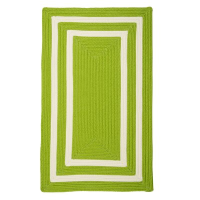 Marti Hand-Woven Outdoor Green Area Rug Rug Size: 5 x 8