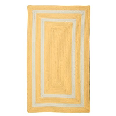 Keats Hand-Woven Outdoor Yellow Area Rug Rug Size: Runner 2 x 8