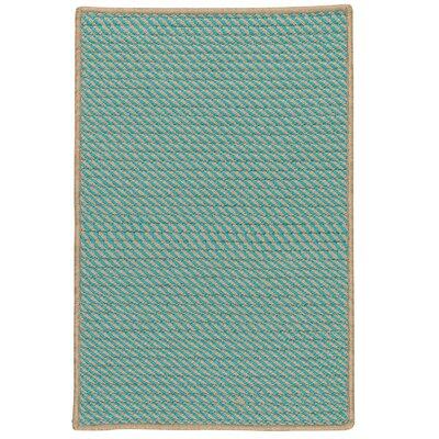 Mammari Hand-Woven Blue Indoor/Outdoor Area Rug Rug Size: 3 x 5