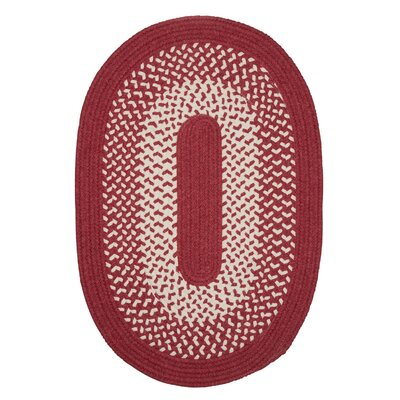 Quigley Hand-Woven Red Area Rug Rug Size: Oval 2 x 12