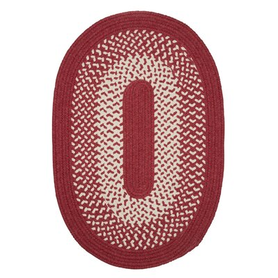 Quigley Hand-Woven Red Area Rug Rug Size: Oval 7 x 9
