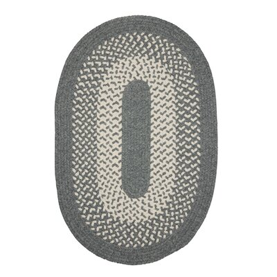 Quigley Hand-Woven Gray Area Rug Rug Size: Oval 3 x 5