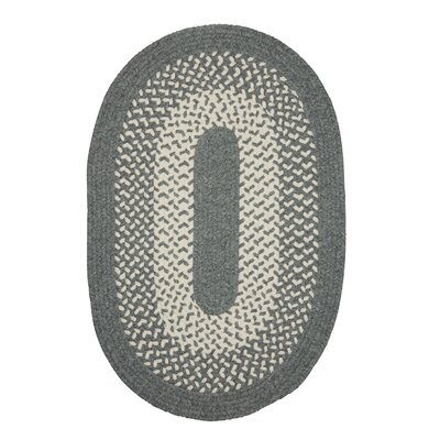 Quigley Hand-Woven Gray Area Rug Rug Size: Oval 7 x 9